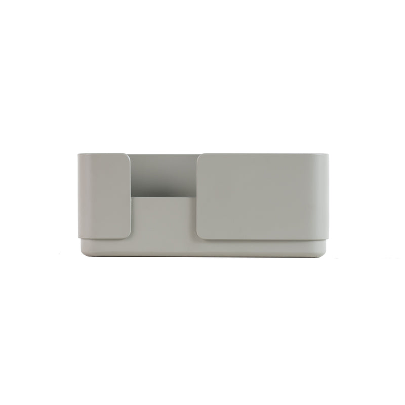 Double candle holder in grey for dinner candles for the contemporary design lover and scandinavian style
