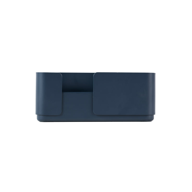 Double candle holder in dark blue for dinner candles for the contemporary design lover and scandinavian style