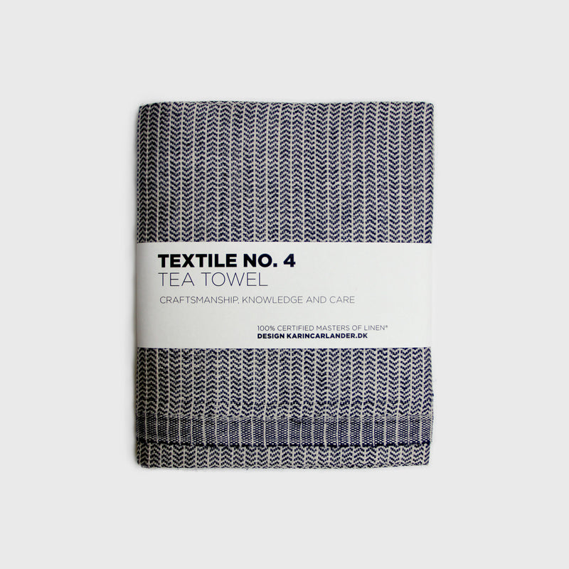 Yinyang Tea Towel / Blue+Wheat