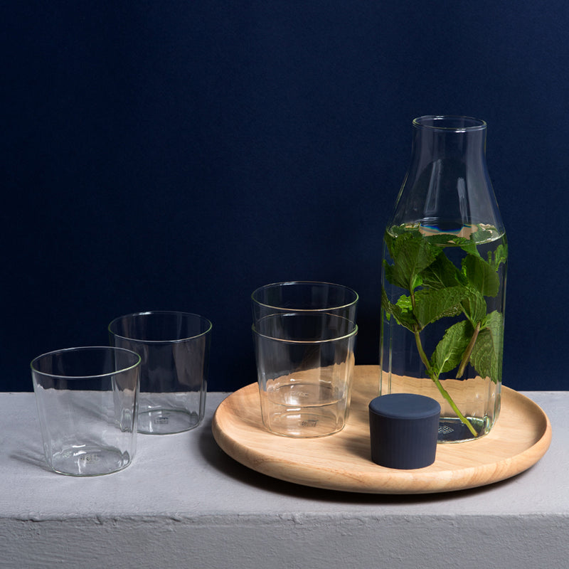 Yod and Co Rivington glass carafes design by Blond design studio