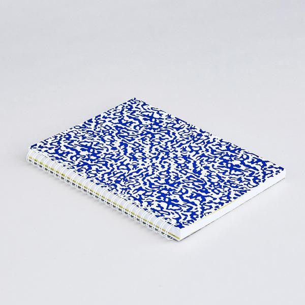 Ripple Blue/White Notebook