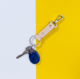 M Leather Key Chain