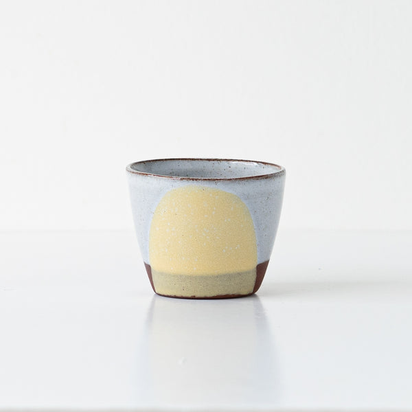 Silvia K hand made terracotta ceramic espresso cup in yellow