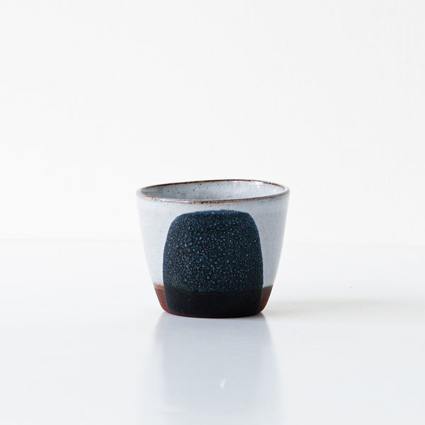 Silvia K hand made terracotta ceramic espresso cup in black