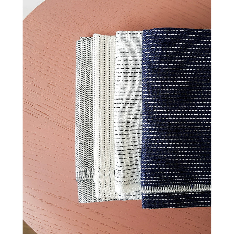 Zigzag Tea Towel / Indigo