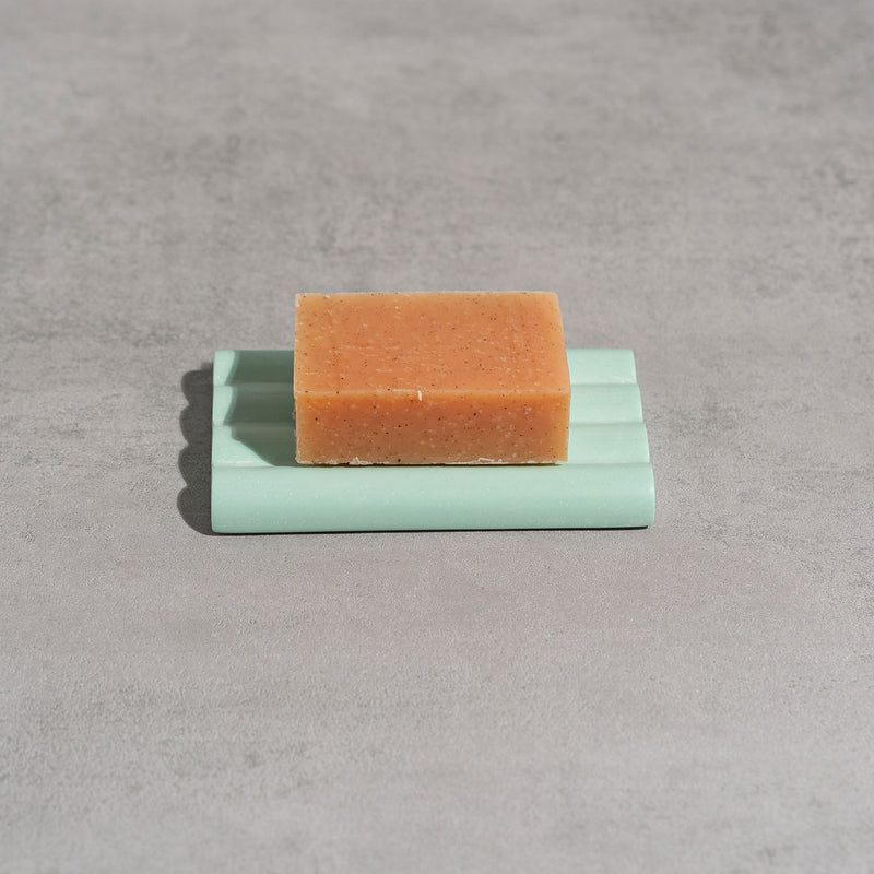 Jesmonite Soap dish in mint green