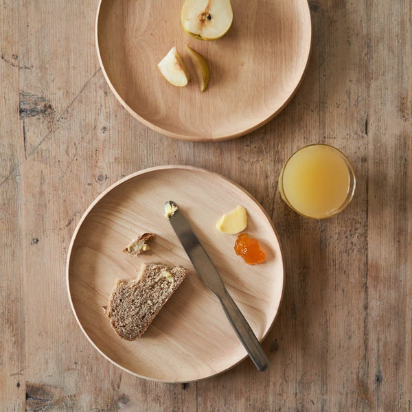 Wooden breakfast chopping board by yod and co