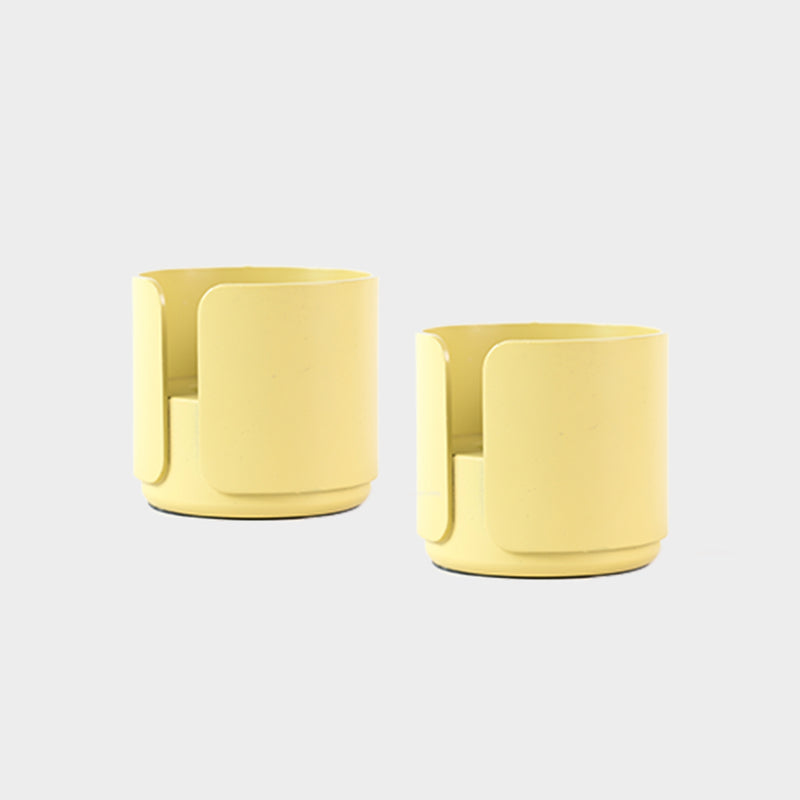 a pair of yellow candle holder for tealight and candles for the contemporary design lover and scandinavian style