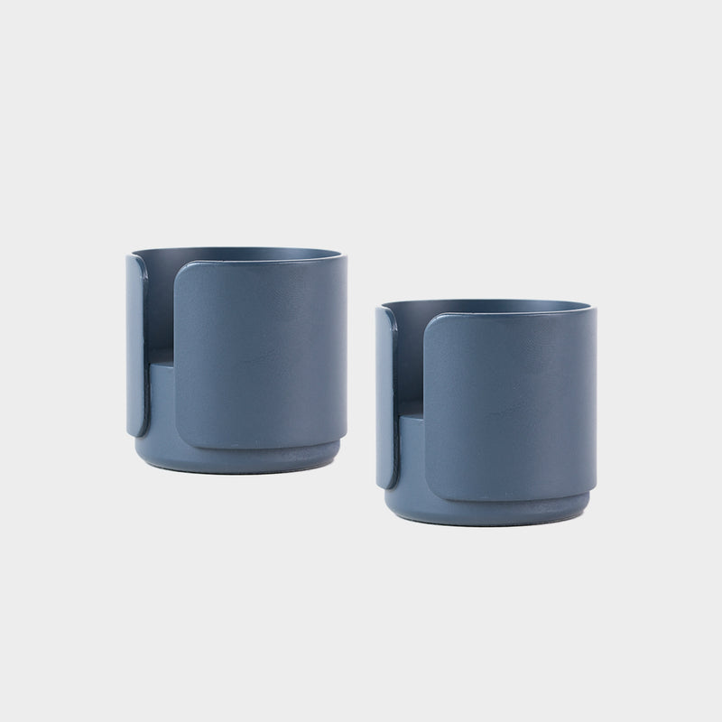 a pair of blue candle holders for tealight and candles for the contemporary design lover and scandinavian style