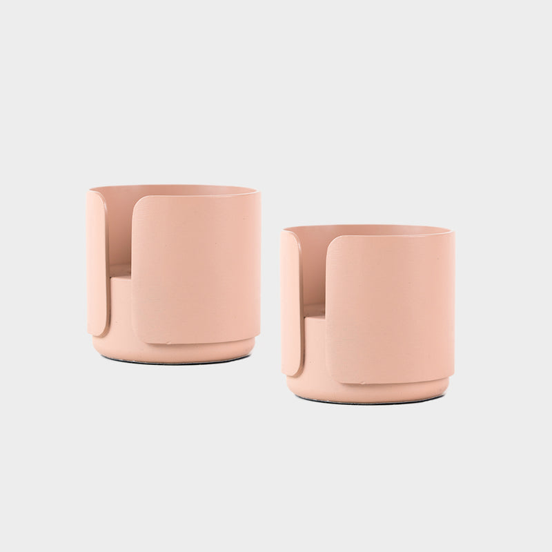 a pair of pink candle holders for tealight and candles for the contemporary design lover and scandinavian style