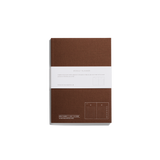 Before breakfast weekl planner note book handmade in london in brown