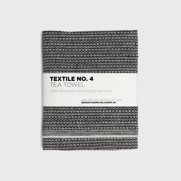 Sashiko Tea Towel / Black