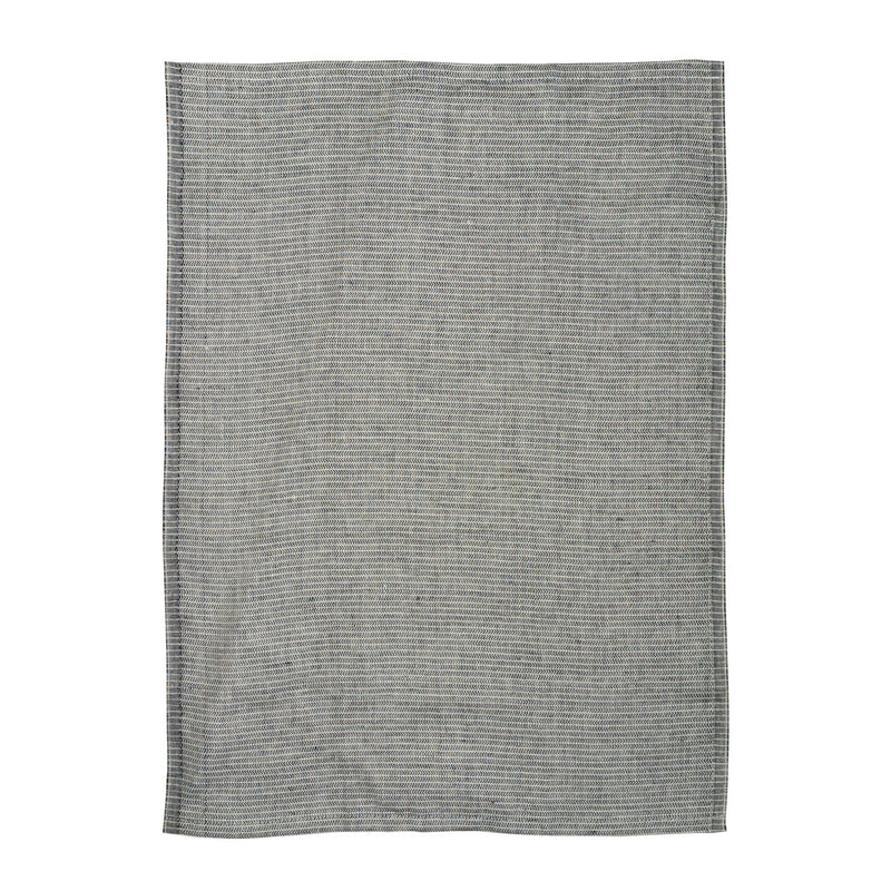 Yinyang Tea Towel / Black+Wheat