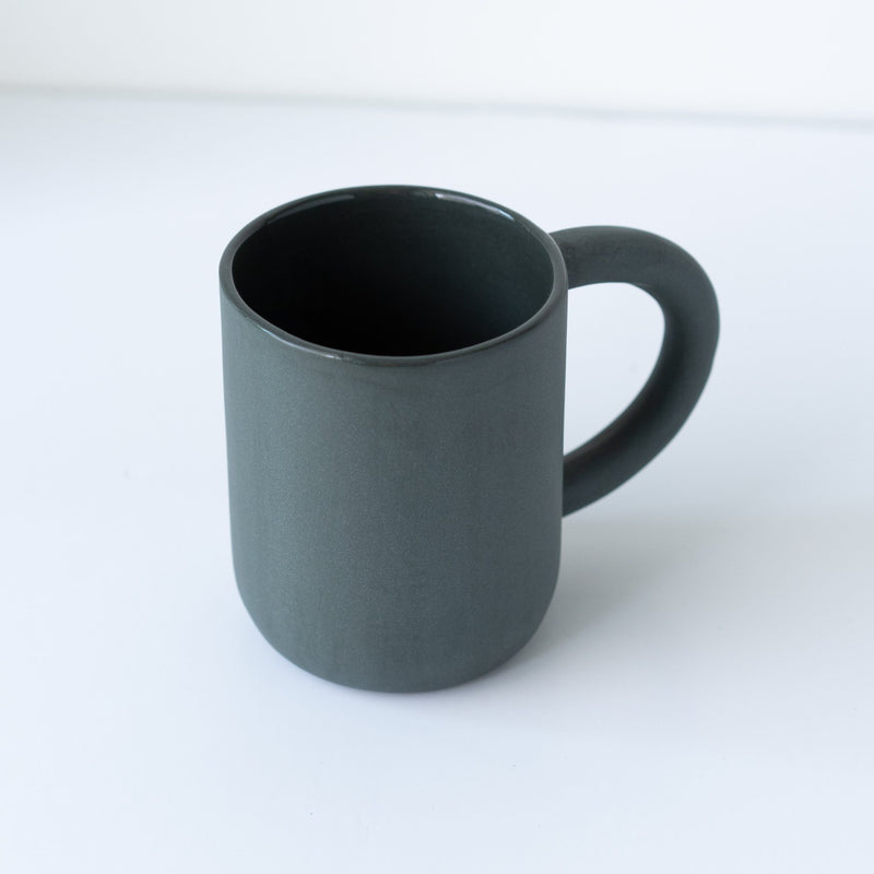 laureanne kootstra design hand made ceramic black porcelain mug