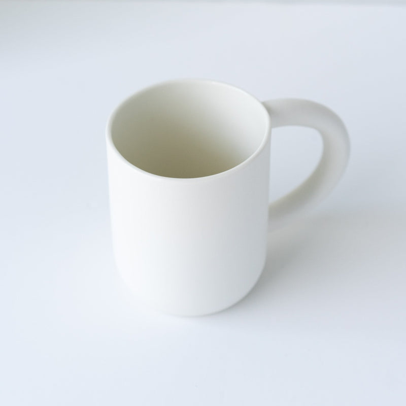 laureanne kootstra design hand made ceramic white porcelain mug