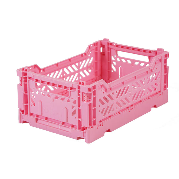 Hay Colour crate , Aykasa foldable plastic crate in baby pink