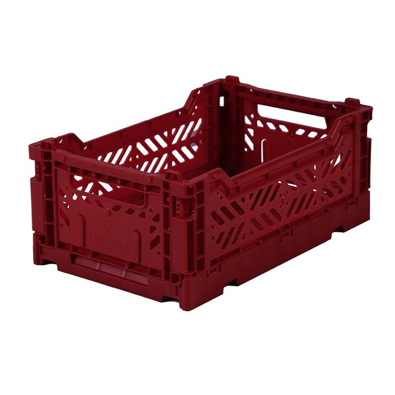Hay Colour crate , Aykasa foldable plastic crate in deep red