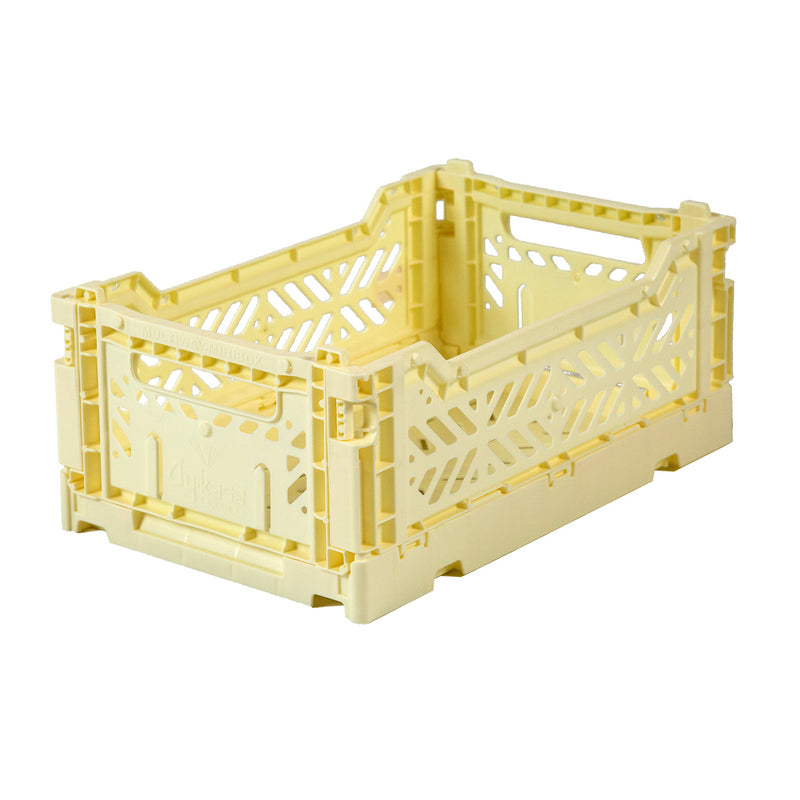 Hay Colour crate , Aykasa foldable plastic crate in cream
