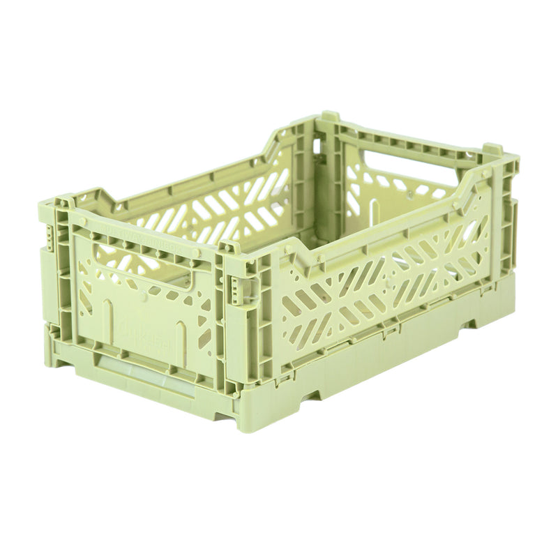 Hay Colour crate , Aykasa foldable plastic crate in  melon