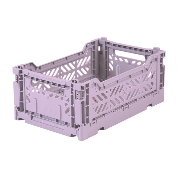 Hay Colour crate , Aykasa foldable plastic crate in lavender orchid