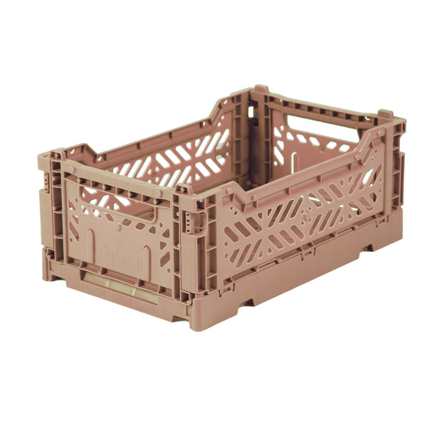 Hay Colour crate , Aykasa foldable plastic crate in  warm taupe