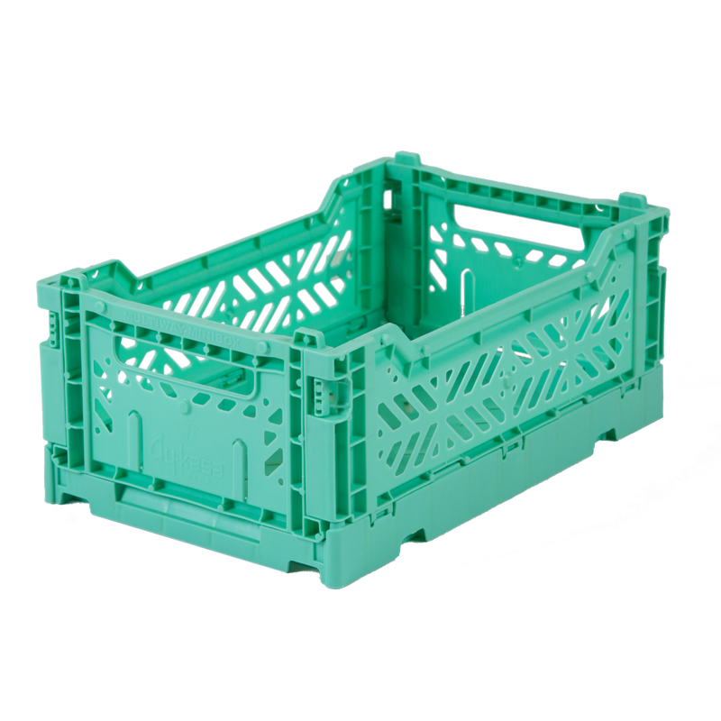 Hay Colour crate , Aykasa foldable plastic crate in mint