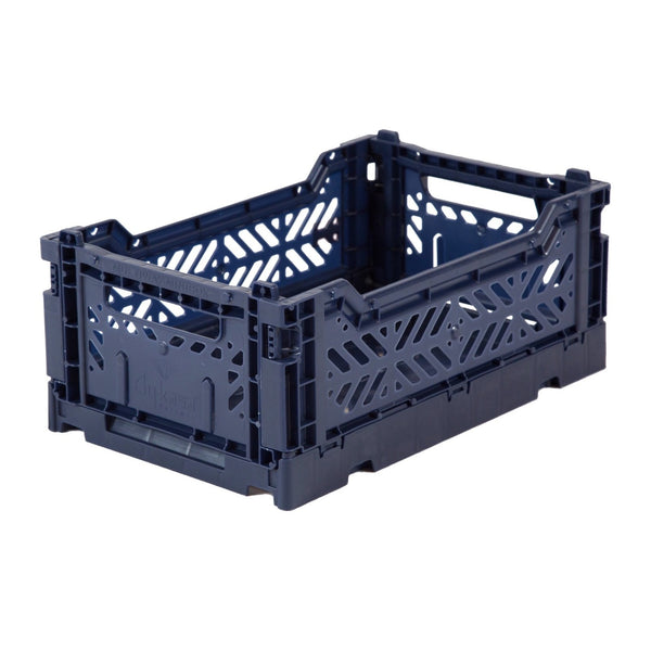 Hay Colour crate , Aykasa foldable plastic crate in navy
