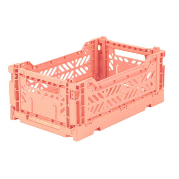 Hay Colour crate , Aykasa foldable plastic crate in salmon