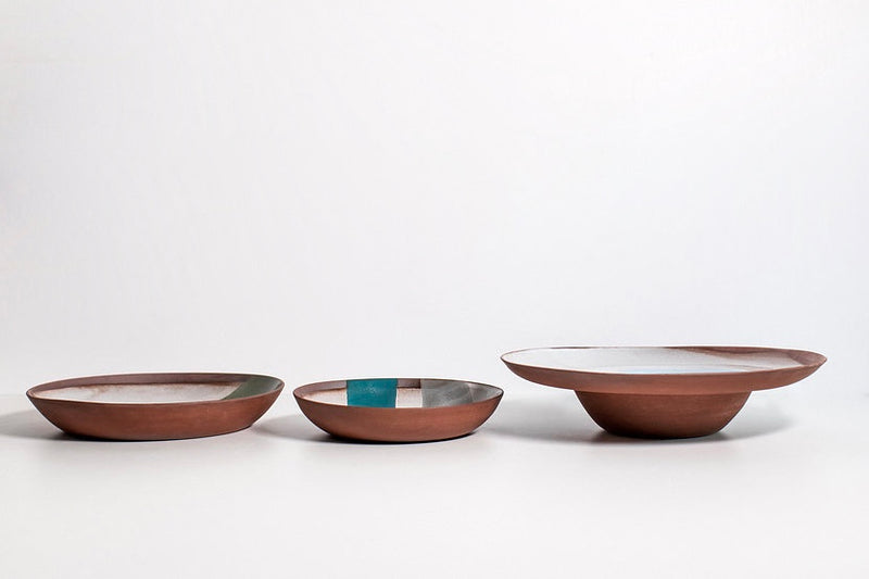 Terracotta Wide Rimmed Bowl - Stone