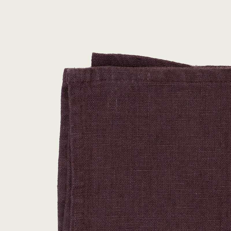 Mauve dark purple Linen tales  premium linen kitchen tea towel
