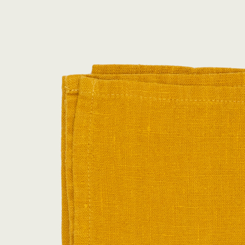 yellow mustard premium linen kitchen tea towel