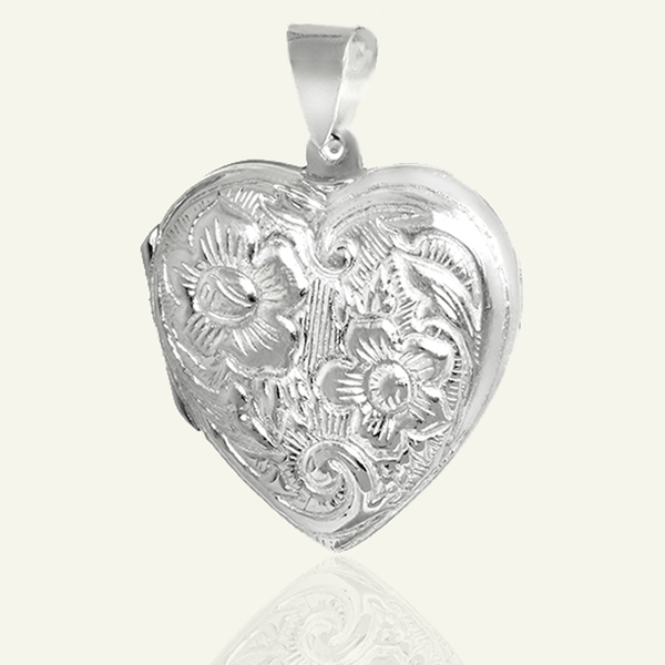 Garden Heart Locket - The Locket Tree