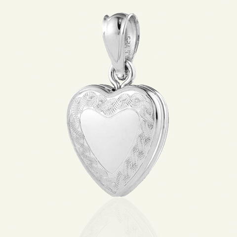 Dainty Heart Border Locket - The Locket Tree