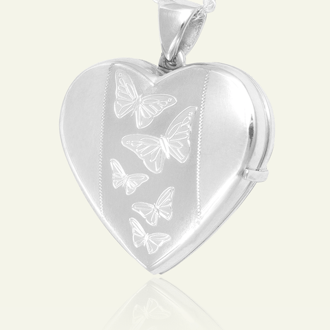 Large 4-Photo Butterfly Locket 26 mm - The Locket Tree