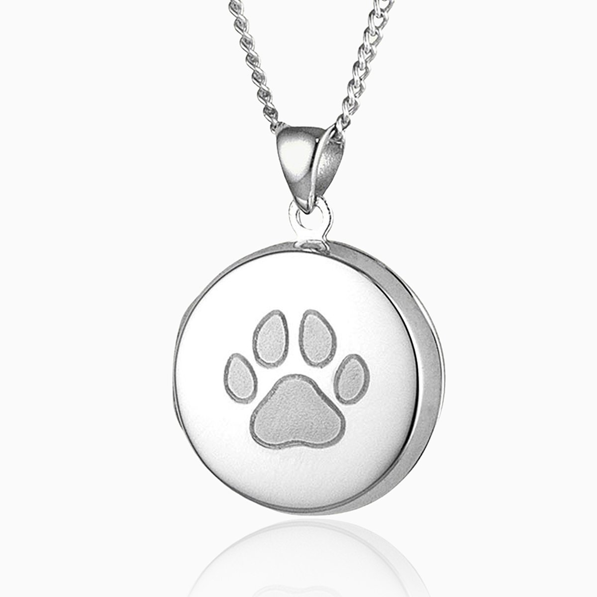 Product title: Round Paw Print Locket, product type: Locket