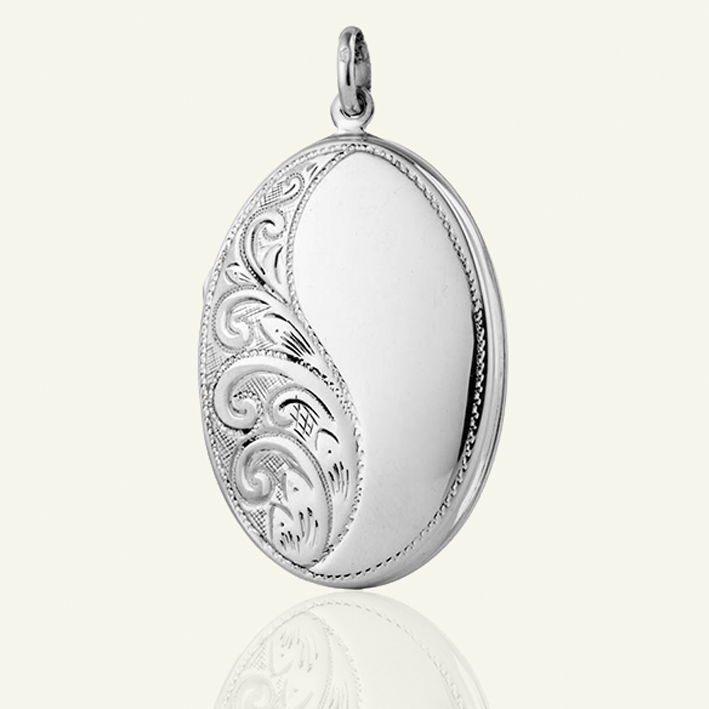 sterling victorian lockets extra large style necklace silver locket