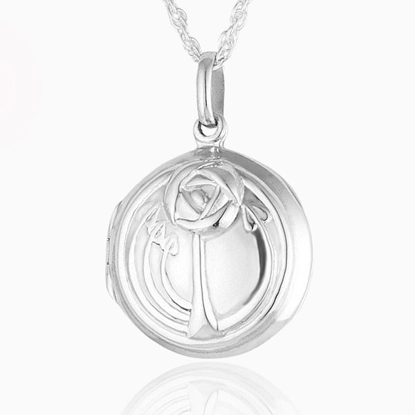 Art Nouveau Rose Locket
