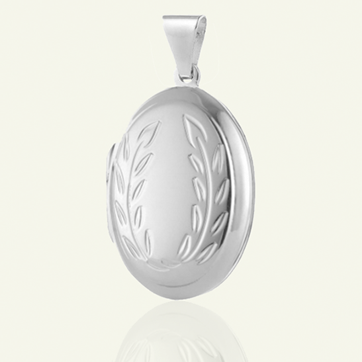 Silver Garland Locket - The Locket Tree