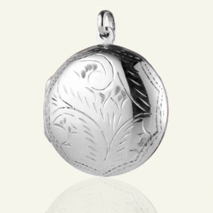 Large Round Domed Locket 29 mm - The Locket Tree