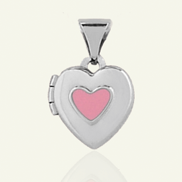 Child's Pink Heart Locket - The Locket Tree