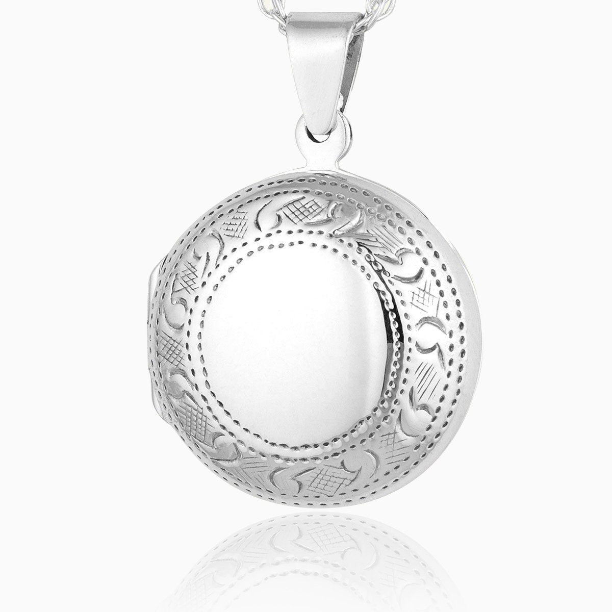 Product title: Round Engraved Border Locket, product type: Locket