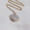 Pave Set Diamond Gold Locket - The Locket Tree