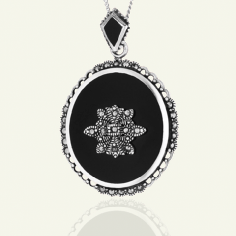 Extra Large Onyx Locket - The Locket Tree