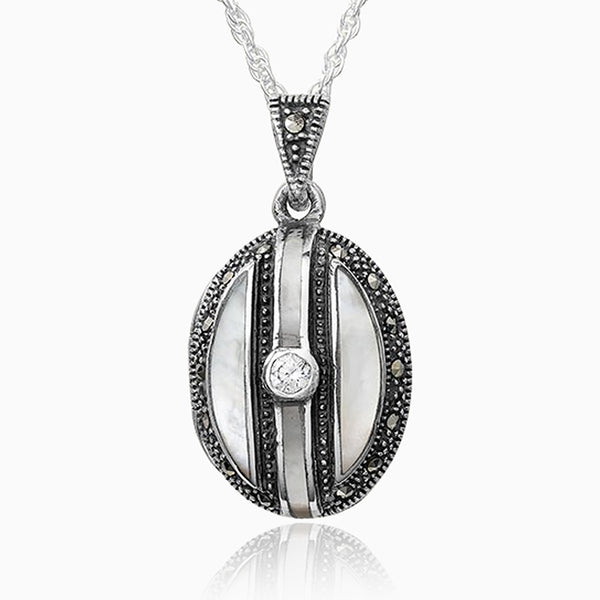 Product title: Art Deco Marcasite Locket, product type: Locket