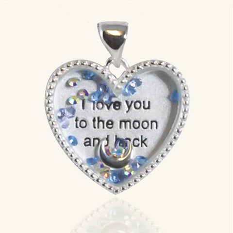 Floating Charm Moon Locket - The Locket Tree