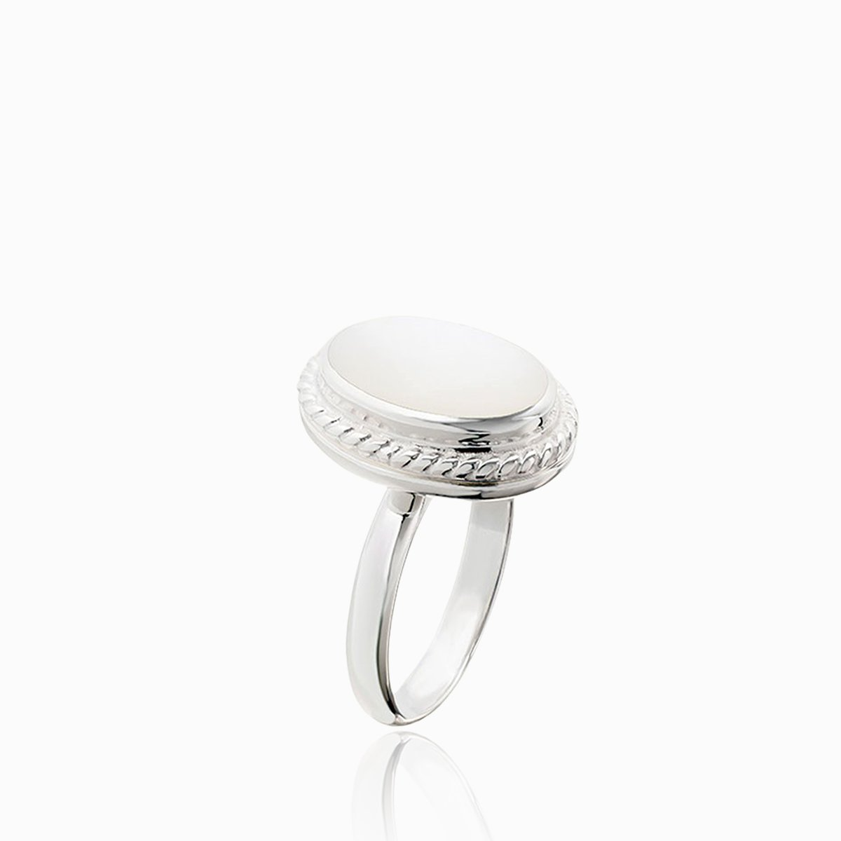 Product title: Mother of Pearl Locket Ring, product type: Ring