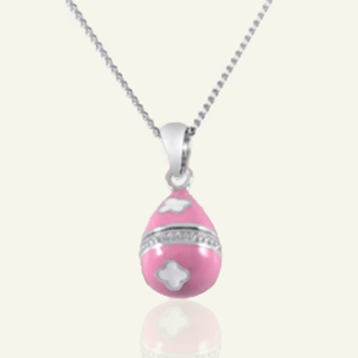 XS Pink Enamel Faberge Style Locket - The Locket Tree