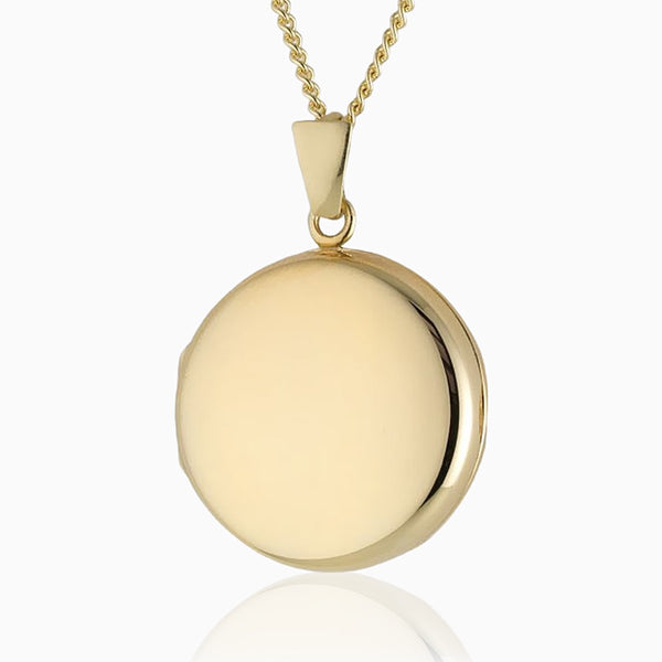 Hand Polished Round Gold Locket
