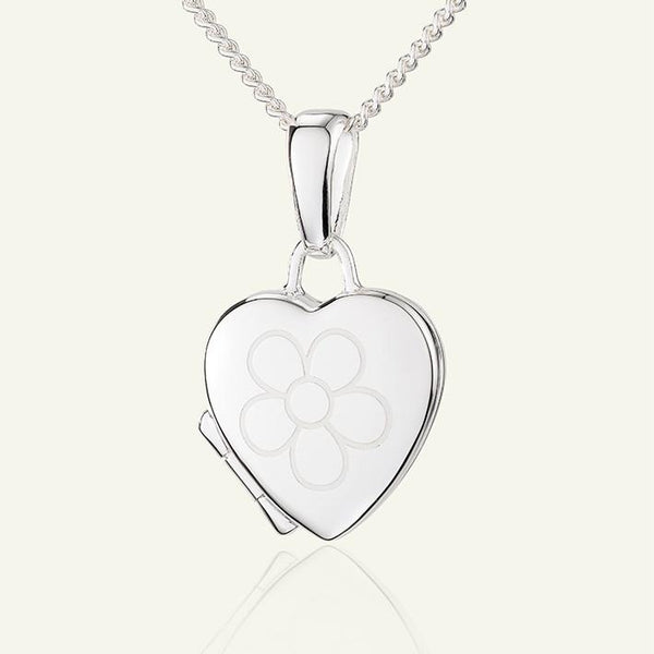 Child's Silver Flower Locket