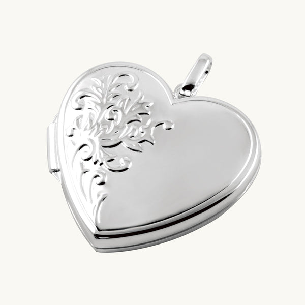 Large Foliate Border Locket - The Locket Tree